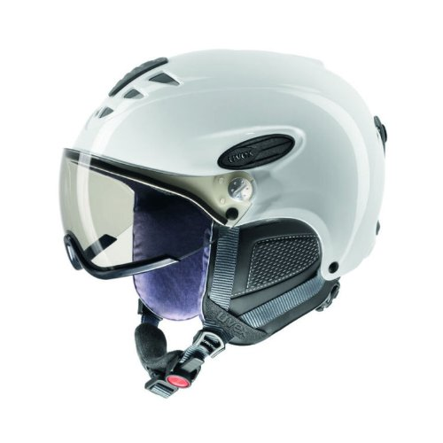 Skihelm Uvex uvision visor S566143 Modell 2013, Farbe:white shiny;Größe:S-M