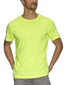 Coole-Fun-T-Shirts Herren NEON T-SHIRT floureszierend neongelb, S