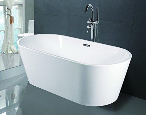 Empava a1507w luxury modern bathroom freestanding bathtub for Luxury tubs