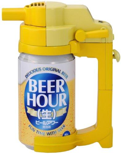 缶ビールを生ビールのような泡で注げる「ビールアワー」