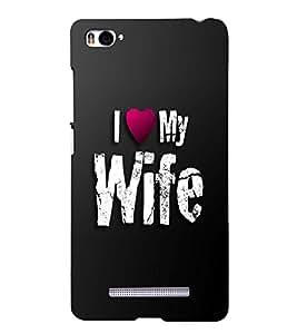PRINTSHOPPII LOVE Back Case Cover for Xiaomi Redmi Mi4i::Xiaomi Mi 4i