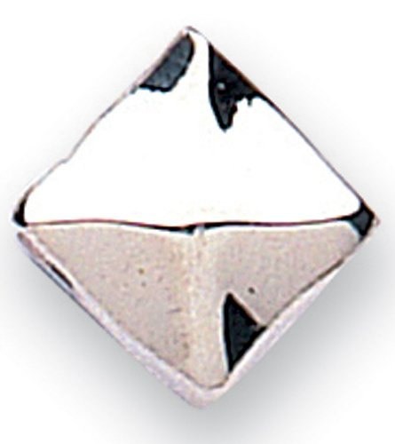 Jo For Girls Silver Off Set Cube Bead