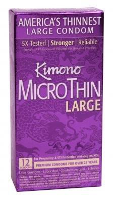 [Kimono Microthin 12 Pack Large Latex Condoms] (Flavor Of Love Halloween Costume)