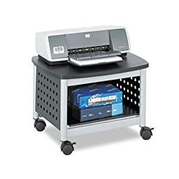 Safco - Scoot Printer Stand 20-1/4W X 16-1/2D X 14-1/2H Black/Silver \