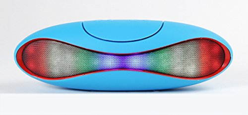 Toshare Rugby Wireless LED Light Bluetooth Speaker with Multi-function Magic Dancing Colorful Music LED Light FM Radio for Speakerphone. Loud & Clear HD Sound and Lighting Perfect College Dorm Room Accessories Works for Smart Phones and Mp3 Players (Blue)