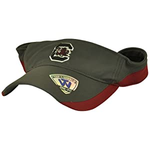 Buy NCAA South Carolina Gamecocks Top of the World Stretch Fit Flex Fit Visor Hat by NCAA Officially Licensed Product