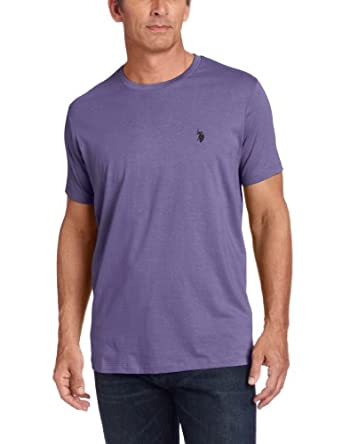 U.S. Polo Assn. Men's Crew Neck T-Shirt with Small Pony, Tie Purple Heather, Small