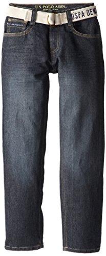 U.S. Polo Assn. Big Boys' 5 Pocket Jean, Blue, 10