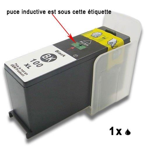 Druckerpatronen komp. für Lexmark 100 100XL S301 S305 S405 S505 S605 S308 S408 S508 S608?S815 S816 Pro205 Pro705 Pro805 Pro905 Pro208 Pro708 Pro808 Pro908 Pro901 (1 Shwarz)