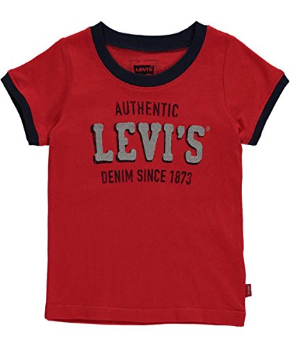 "Levi's Baby Boys' ""Embroidered Logo"" T-Shirt - red, 12 months"