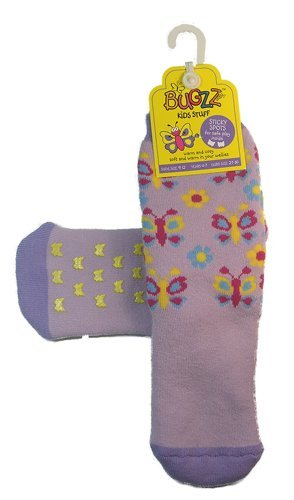 Bugzz Kids/Children Wellie Socks Large ( Age 4 to 7) - Butterfly