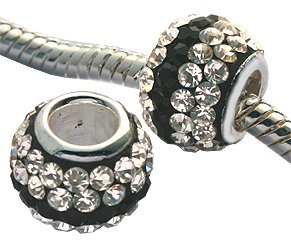 crystal beads by GlitZ JewelZ © - 9mm (3/8 inch) long - made with over 70 crystals - fits pandora & troll bracelets - can also be worn as pendant - comes with a cute velvet pouch - add this gleaming bead to your pandora charms collection