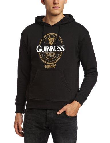 Guinness Official Merchandise - Felpa con cappuccio, manica lunga, uomo, Nero (Black), M