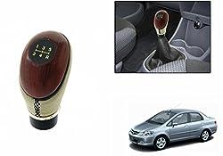 Speedwav Leatherette & Plastic Gear Shift Knob-Beige-Honda City Zx