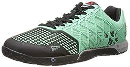 Reebok Men\'s Crossfit Nano 4.0 Training Shoe, Mint Glow/Black/Metallic Silver, 7 M US