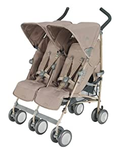 Maclaren Twin Techno Stroller, Champagne (Discontinued by Manufacturer)