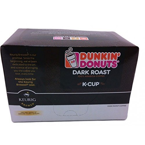 Dunkin Donuts K-cups Dark Roast - 24 Kcups for Use in Keurig Coffee Brewers 5.1oz (Keurig Dunkin Donuts Decaf compare prices)