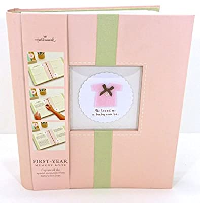 Hallmark Baby First Year Pink Sweet & Soft Baby Girl Memory Book