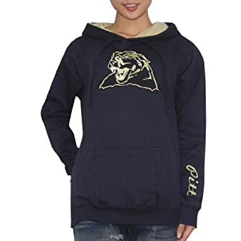 NCAA Pittsburgh Panthers Ladies Hoodie with Embroidered Logo by NCAA