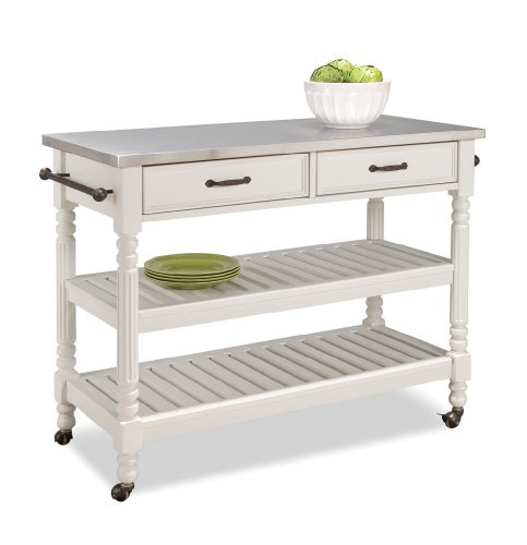Amazing Home Styles Savanna Kitchen Cart White Finish