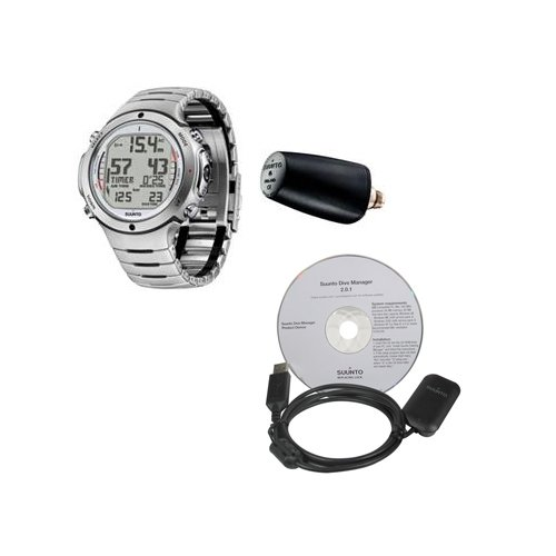 Suunto Men's D6i STEEL W/ TRANSMITTER AND USB Athletic Watches