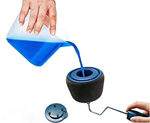 8 PCS Paint Runner Pro Roller Brush Handle Tool Flocked Edger Room Wall Painting Home Office Room Multifunction Roller Paint Brush Set