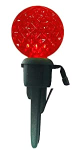 Amazon.com - Pack of 12 Red LED G12 Berry Replacement Christmas Light Bulbs - Green Husk ...
