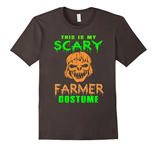 [Men's This Is My Scary Farmer Costume T-shirt Medium Asphalt] (Farmers Dress Up Costumes)