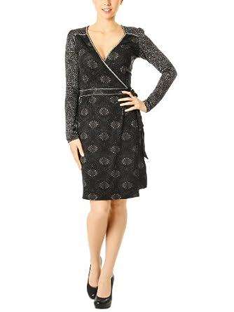 Vive Maria Hippy Barock Wrapdress black/allover, Größe:2L