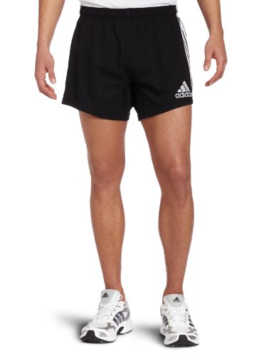 ADIDAS Men's Rugby Teamwear 3 Stripe Short, Black/White, L
