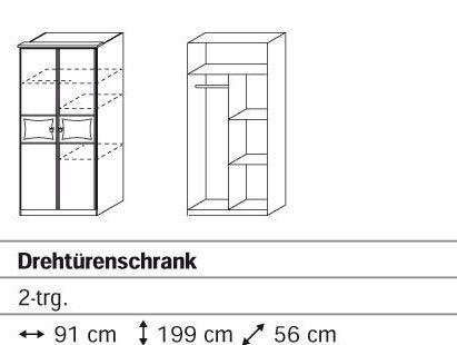 Rauch Kate Drehtürenschrank mit 2 Türen und Motivdruck in alpinweiss – rosa online kaufen