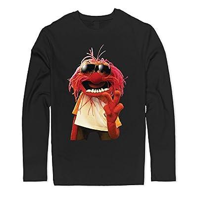 Stefano Men's Love Muppets Jumbo Animal Cartoon Logo Picture Long Sleeve T-shirt
