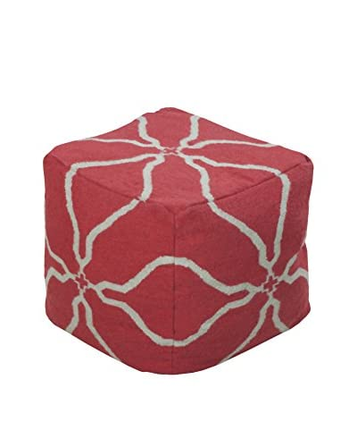 Surya Frontier Pouf, Red