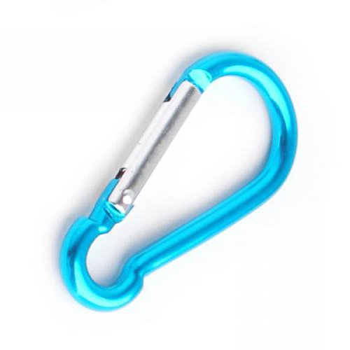 Aluminum Mountaineering Carabiner Camp Camping Snap Clip Hook Keychain Hiking Key Chain Blue Color