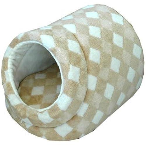 오거닉 코튼 개와 고양이용 베드 다이 아 무늬 돔형 도그 베드 S사이즈 appydog-