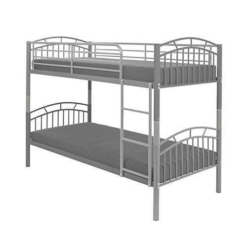 pipilotta etagenbett hochbett bett silber 90 x 200 cm. Black Bedroom Furniture Sets. Home Design Ideas