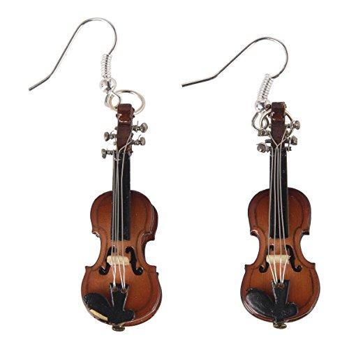 Ohrhnger-Geige-Schnes-Geschenk-fr-Musiker-mit-Geschenkverpackung