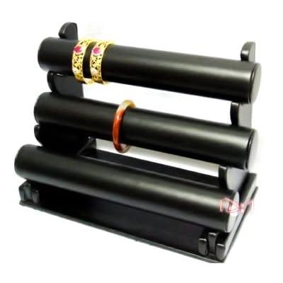 3 Tier Black PUt 3 Tier Bracelet Display Stand