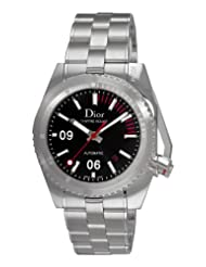 Christian Dior Men's CD085510M001 Chiffre Rouge Diving Steel Black Dial Watch