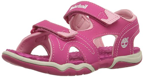 Timberland - Active Casual Sandal FTK_Adventure Seeker 2 Strap Sandal, Sandali  per bambine e ragazze, Rosa, 28