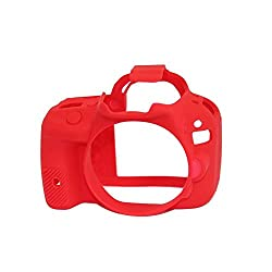 EasyCover Silicone Camera Case for Canon 100D - Red