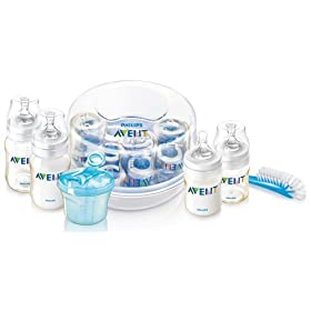 Philips Avent Essentials Gift Set with Sterilizer, BPA Free