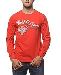 SPYKAR Men Cotton Orange Casual Shirt (X-Large)