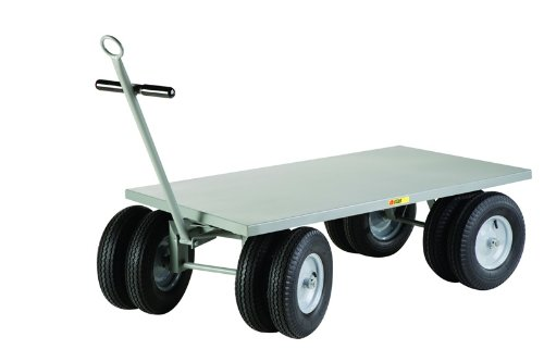 3000 Lb. Capacity 8-Wheeler Wagon Truck With Flush Deck [CD-3048-16PFD-CR-LGC]