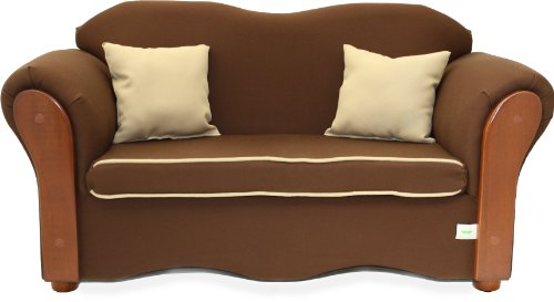 Fantasy Furniture Homey VIP Organic Sofa, Brown/Beige