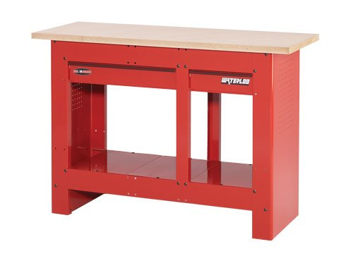 Waterloo 2 Drawer Heavy Duty Work Bench Color Red Model Wb5002 54 X Heavy