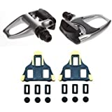 "Shimano PDR540 SPD SL Sport Road Bike Cycling Clipless Pedals ""WITH CLEATS"" - SILVER"
