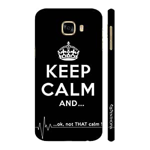 Enthopia Designer Hardshell Case NOT THAT CALM Back Cover for Samsung Galaxy C5