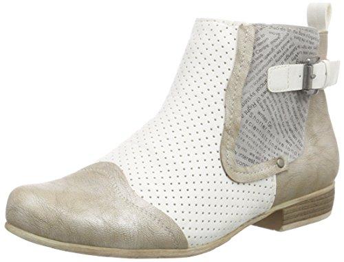 Rieker Antistress 97092, Damen Kurzschaft Stiefel, Grau (platin/weiss/grey/90), 41 EU (7.5 Damen UK)