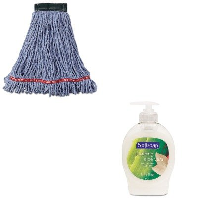KITCPM26012EARCPA252BLU - Value Kit - Rubbermaid Web Foot Wet Mop Head (RCPA252BLU) and Softsoap Moisturizing Hand Soap w/Aloe (CPM26012EA) kitbwkk5000rcp750411 value kit rubbermaid autofoam touch free skin care system rcp750411 and boardwalk premium half fold toilet seat covers bwkk5000